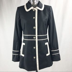 White House Black Market Jacket Black /Beige Trim